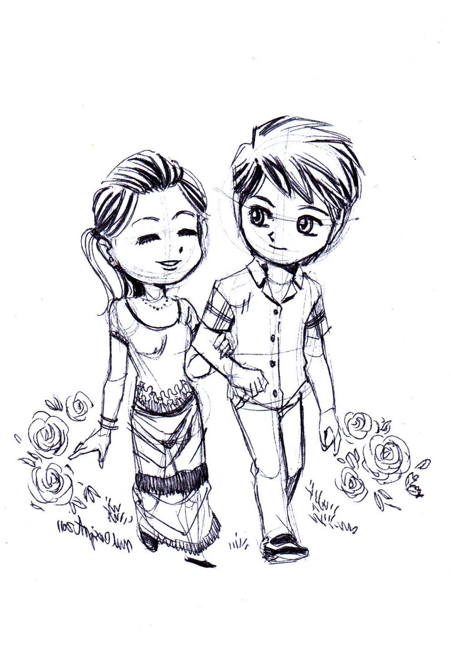 900x1321 Beautiful 3d Love Drawing Cute Love Drawing, Art Ideas