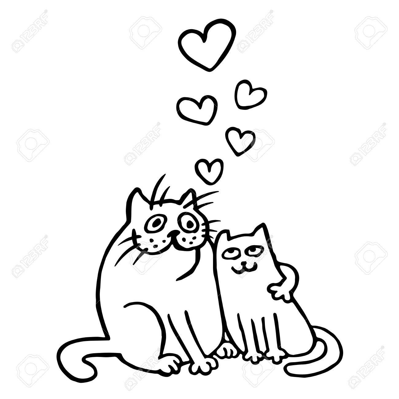1300x1300 Cute Animal Love Drawings