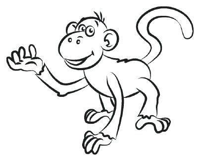 400x320 Drawings Of Monkeys How To Draw A Monkey In 5 Steps Cute Monkey