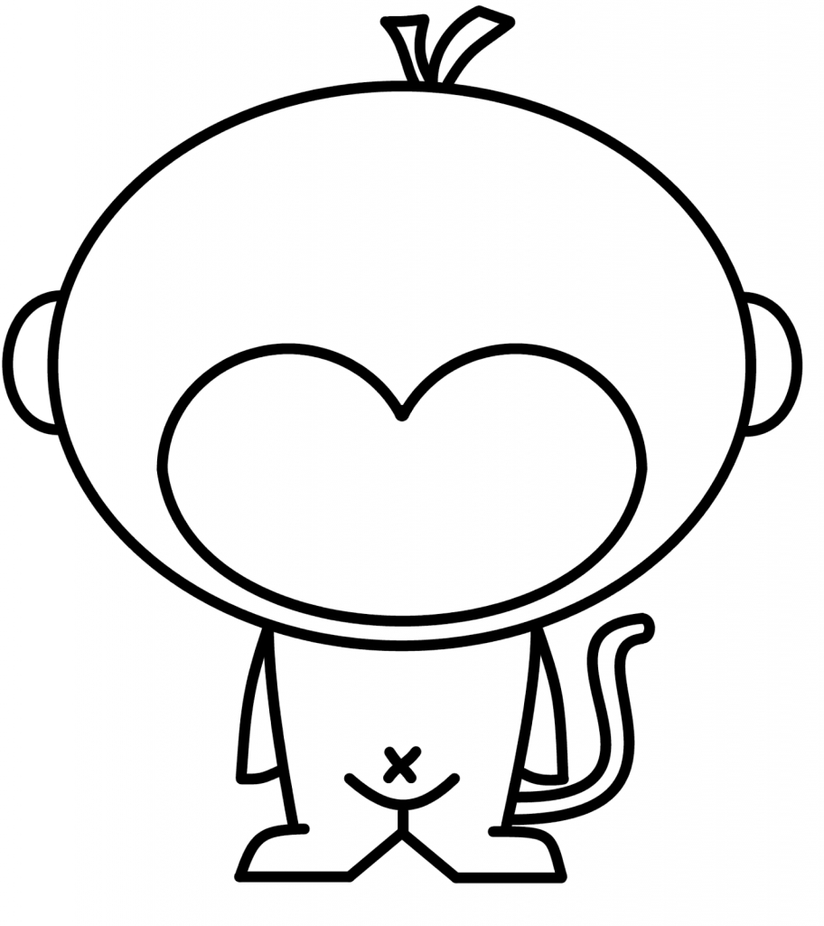912x1024 Easy To Draw Monkey Cute N Kawaii How To Draw A Kawaii Monkey