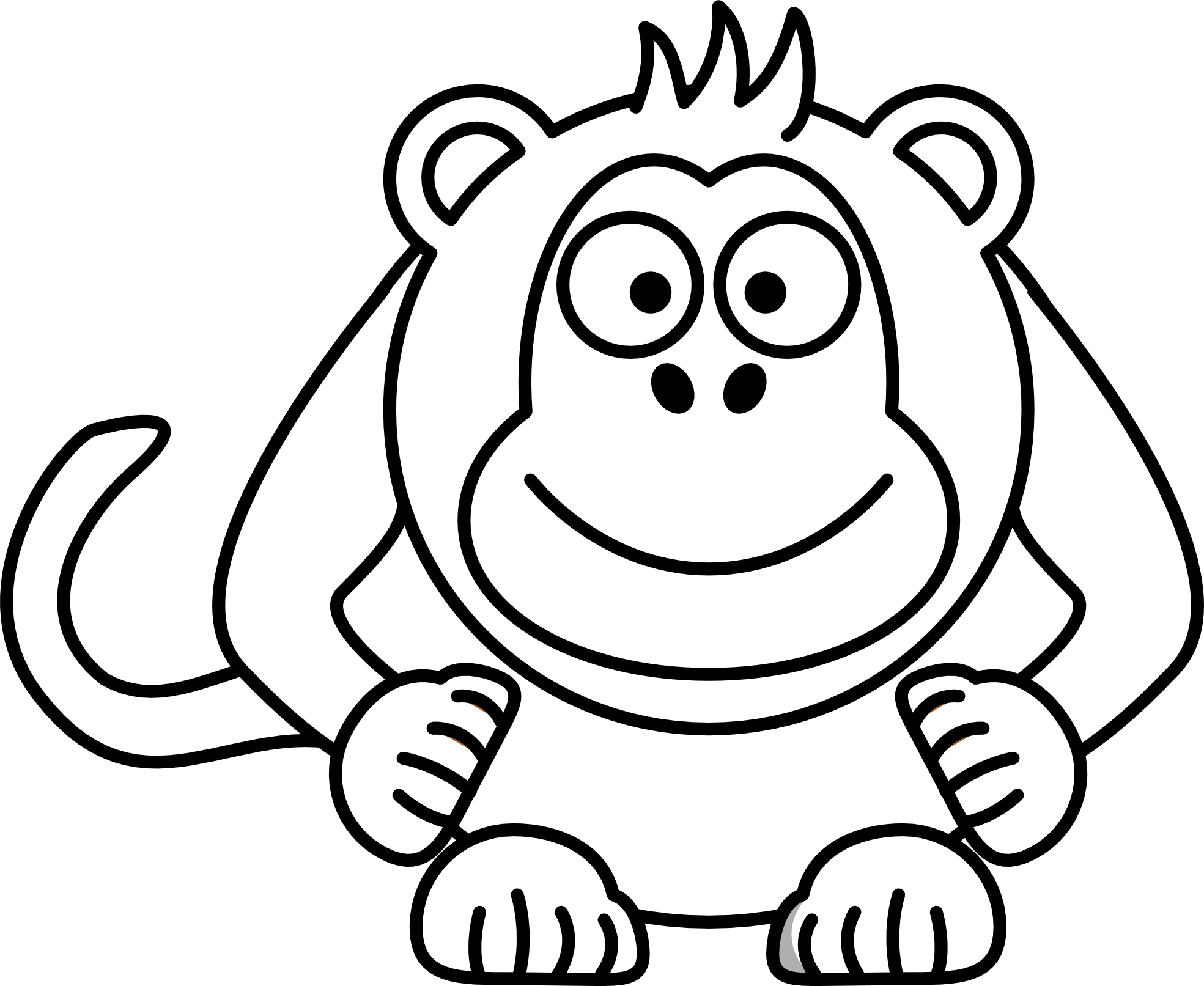 1969x1613 Monkey Drawings Free Download Clip Art Free Clip Art on