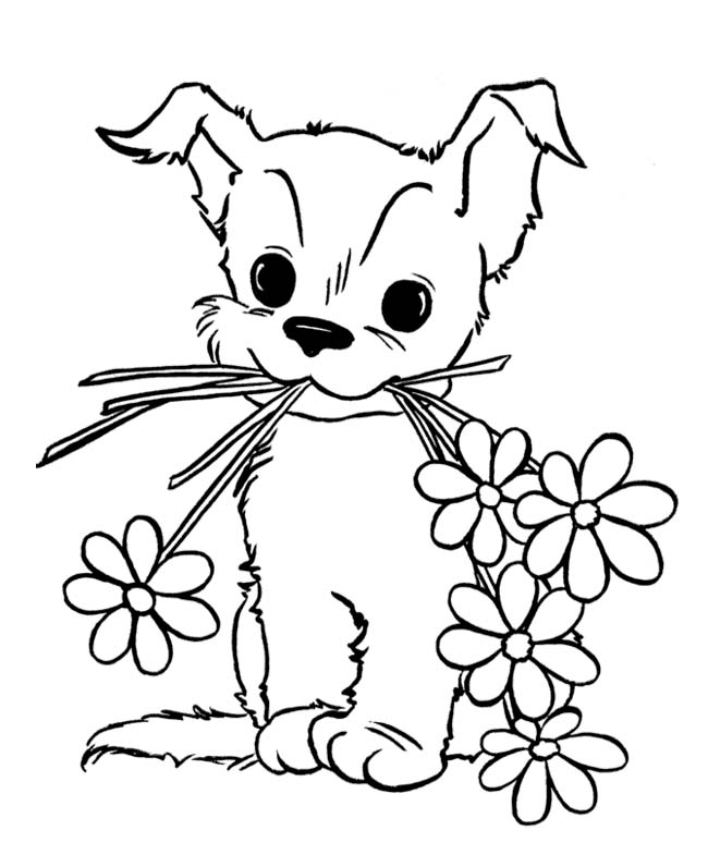 650x796 Cute Puppy Coloring Pages For Kids Free Printable Animals