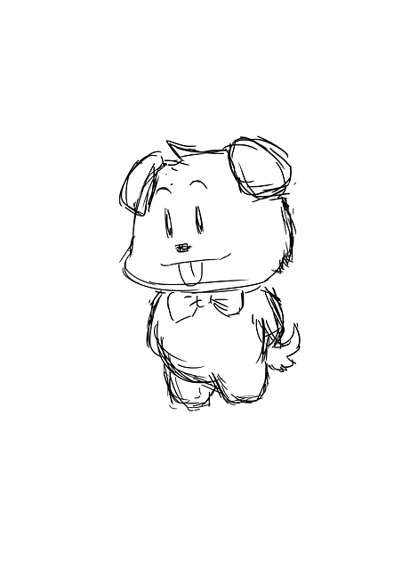 452x640 Free Photo Drawing Puppy Sketch Animal Cute Doggie