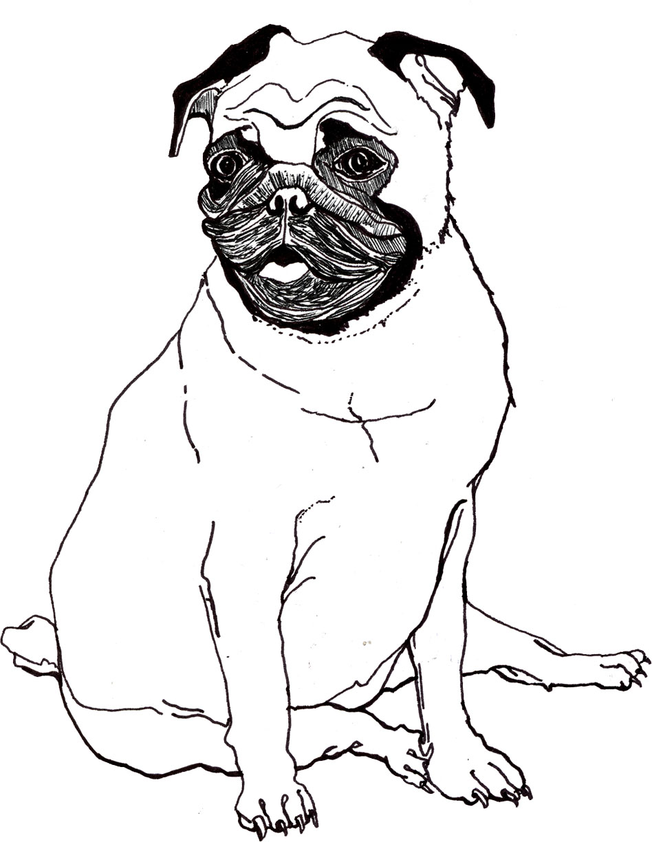 948x1224 Pug Puppy Coloring Pages Printable To Beatiful Draw Fabulous Cute