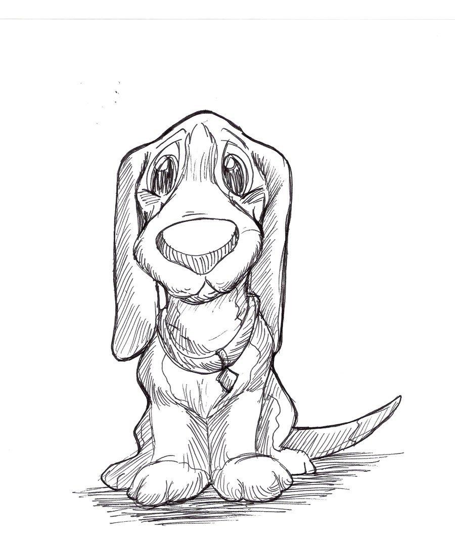 900x1068 Sad Puppy Pen Drawing By Kokamo77