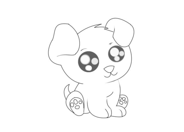 640x460 Terrific Draw Cute Puppy Drawing Drawings Puppies Art
