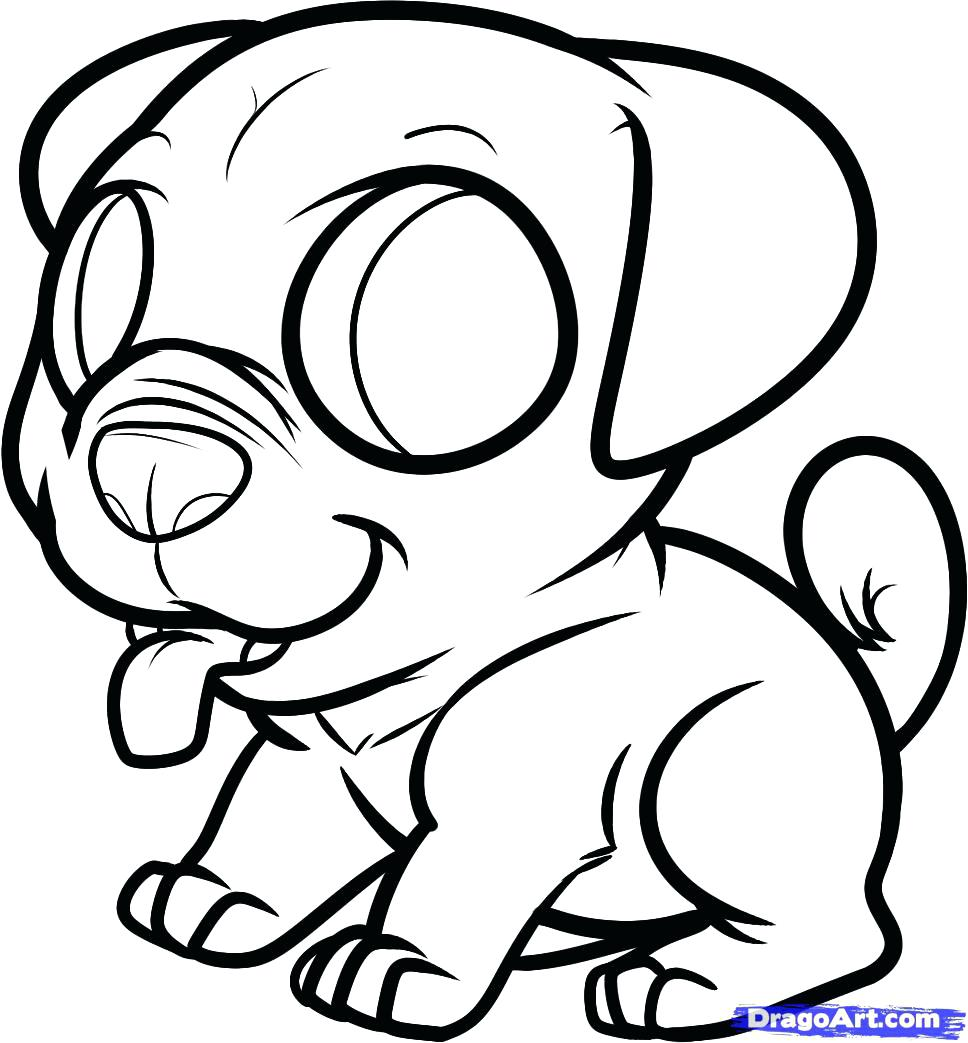 968x1043 Coloring Pages ~ Cute Puppy Coloring Pages Printable Pug Very Cute