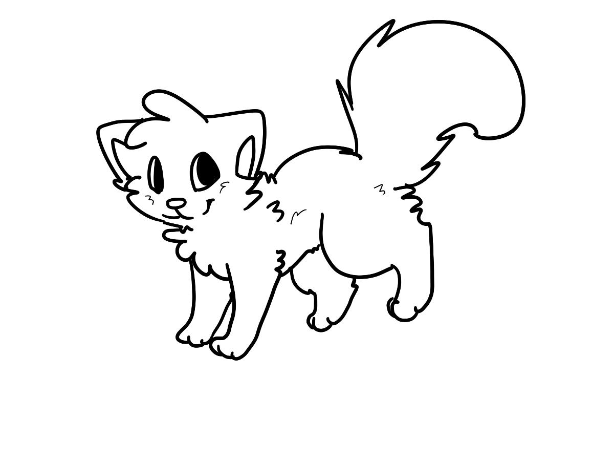 1200x900 Cute Cat Drawings Wallpaper
