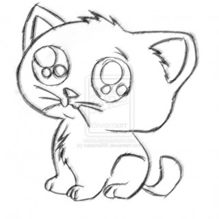 320x320 Tag For Cute Cat Pictures To Draw Funny Cartoon Tattoo Drawings