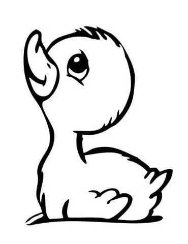 370x480 Drawn Duck Baby Duck