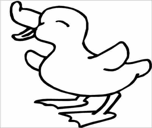 586x495 Free Coloring Pages Printable Cute Duck