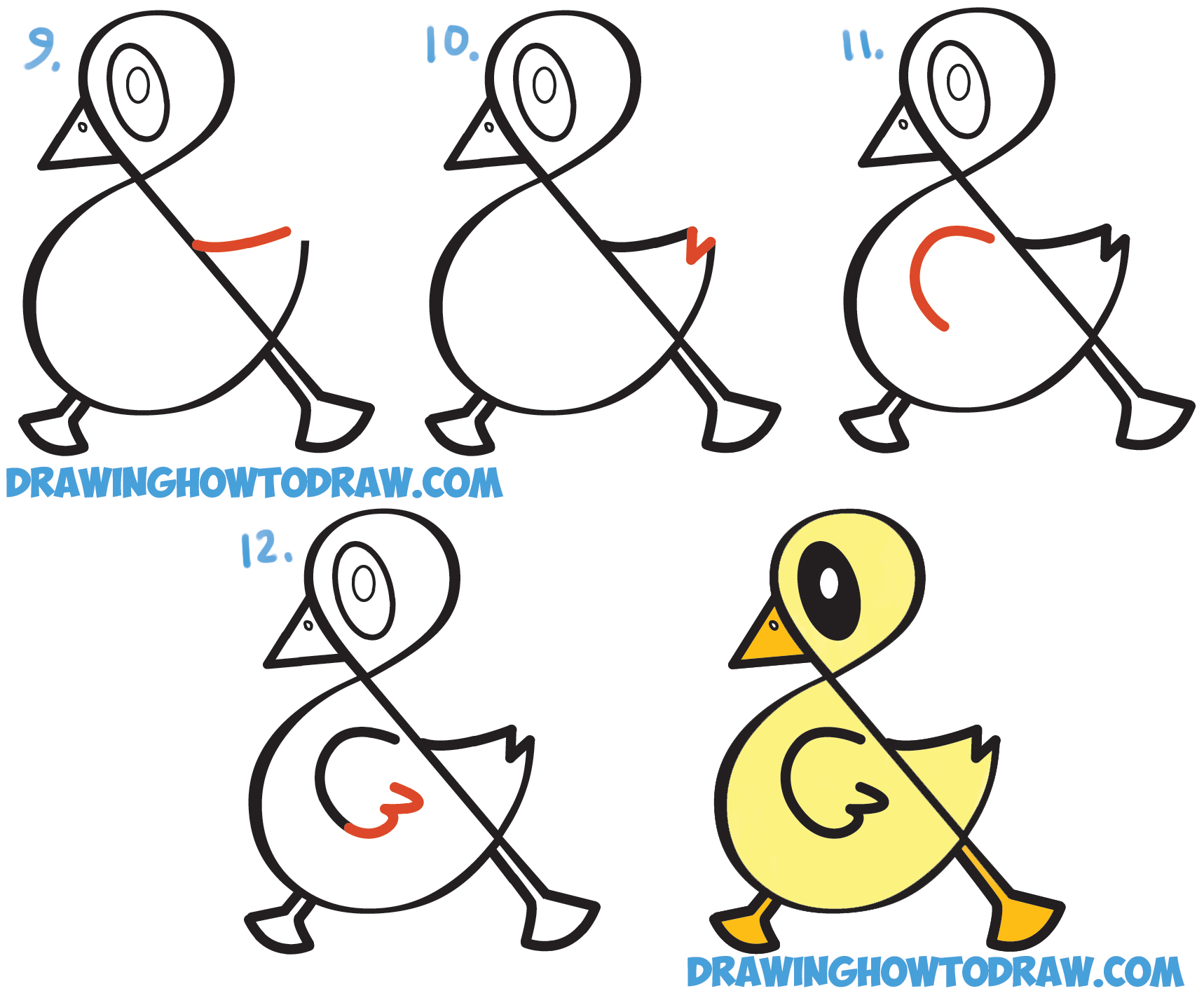 1718x1424 How To Draw A Cute Cartoon Duck From Ampersand Symbol