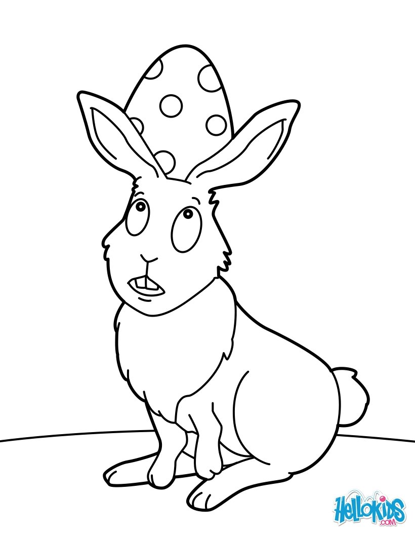 820x1060 Cute Easter Bunny Coloring Pages