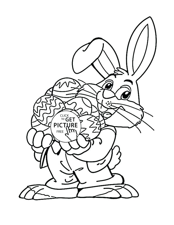 736x952 Easter Bunny Coloring Pages To Print Plus A Happy