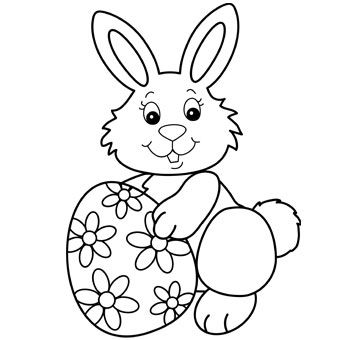 340x340 Easter Bunny Pictures Coloring Pages Drawings Images 2017