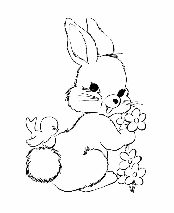 Cute Easter Bunny Drawing at GetDrawingscom Free for personal use