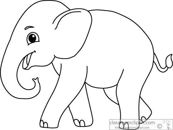 550x413 Cute Elephant Clipart Black And White