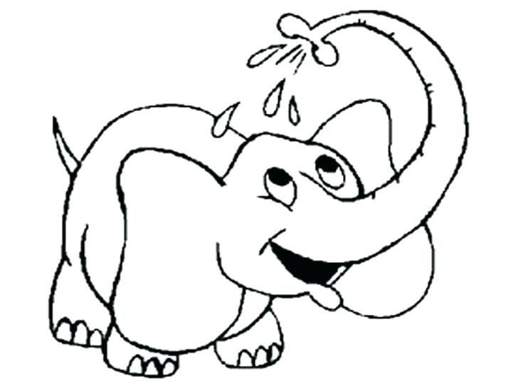 728x546 Cute Elephant Coloring Pages 97 Packed With Print Elephant
