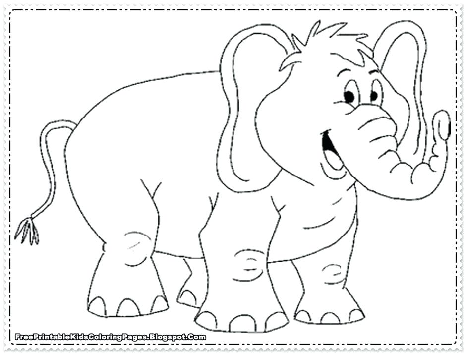 940x714 Cute Elephant Coloring Pages Page Clip Art