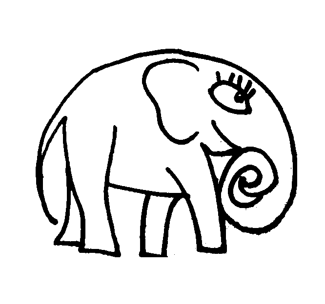 666x624 Elephant Coloring Pictures Cartoon And Realistic