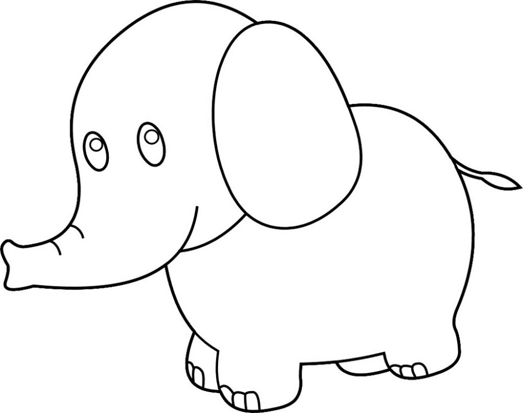 1024x810 Fresh Elephant Picture To Color 15