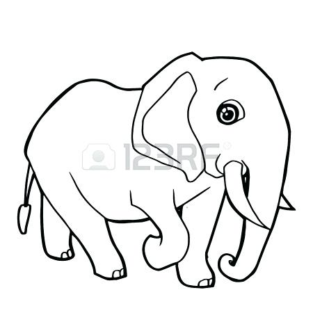 450x450 Cute Elephant Coloring Pages Murs