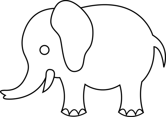 550x390 Elephant Graphic Cute Elephant Line Art