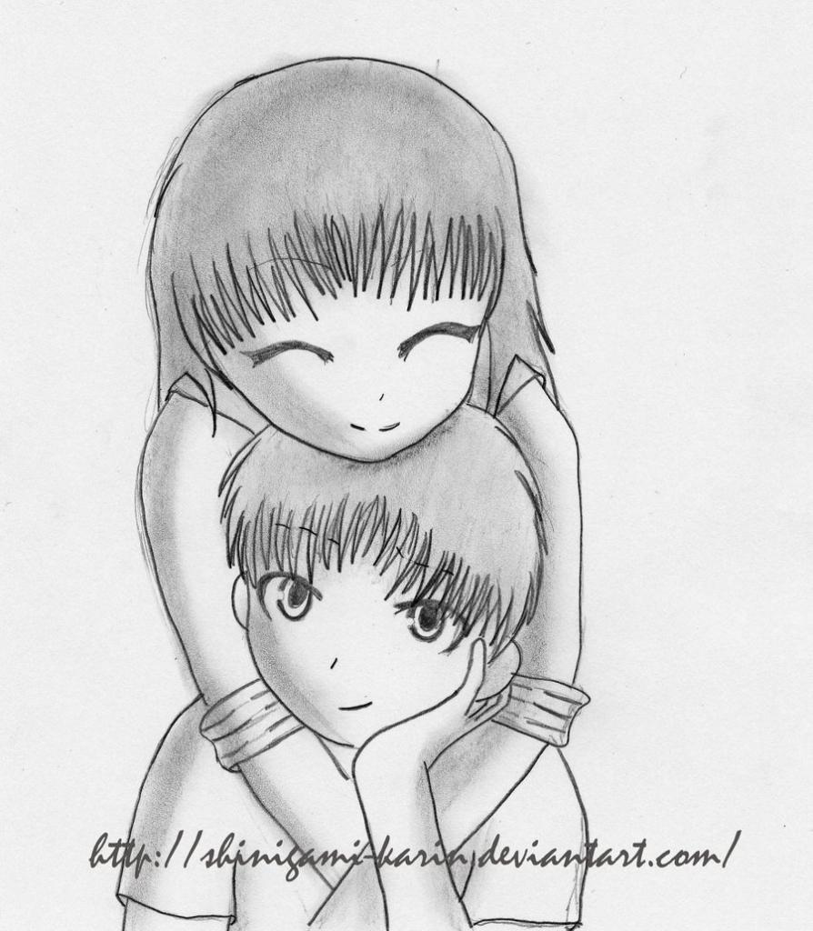 894x1024 Easy Anime Couple Sketches More Like Cute Anime Emo