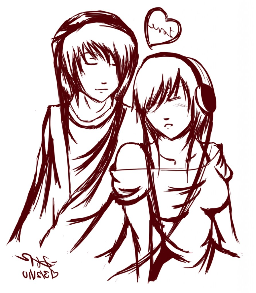 893x1024 Emo Anime Pictures Couples Allofpicts