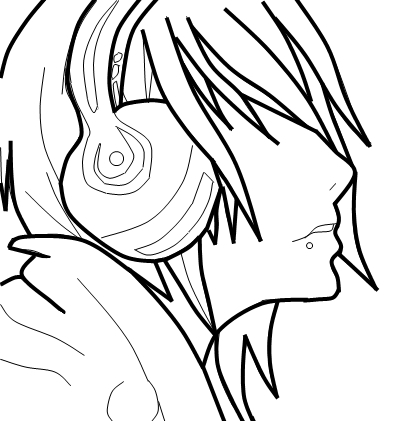 395x421 Cute Emo Guy Coloring Pages Flower Coloring Pages