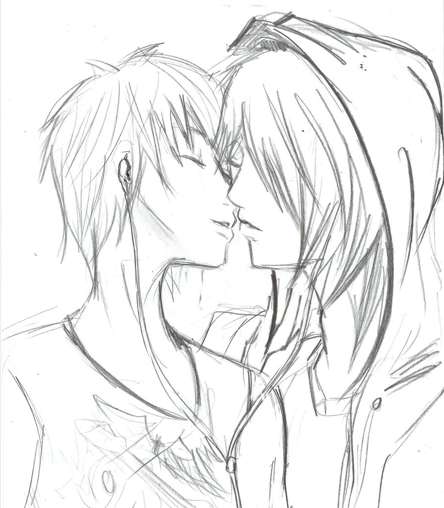 900x1031 Emo Anime Love Drawings In Pencil Pencil Love Sketches Emo Anime