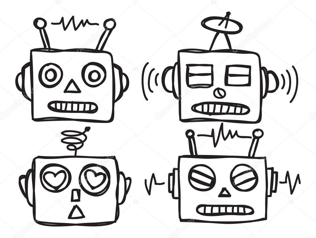 1024x771 Cute Robot Face Stock Vector Mhatzapa
