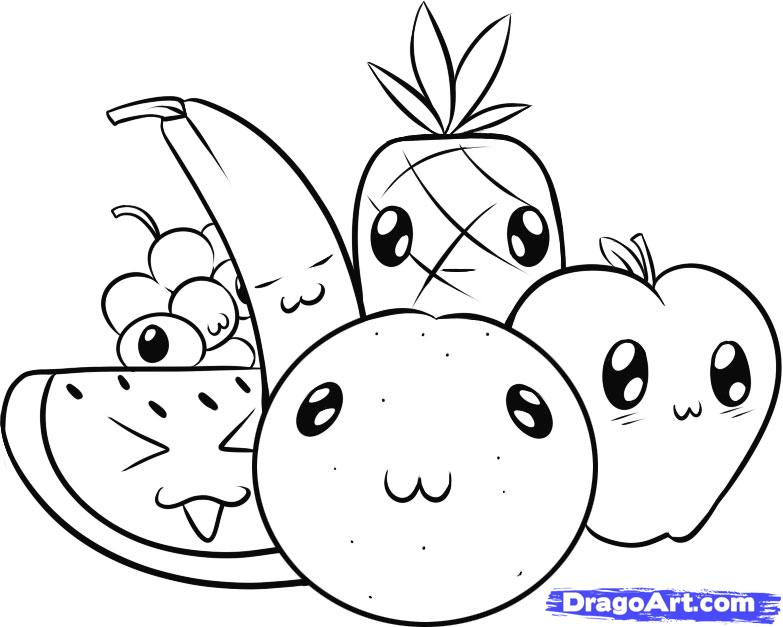 783x627 Draw Fruit, Step By Step, Drawing Sheets, Added By Dawn, May 31