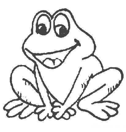 411x430 cute frog coloring pages