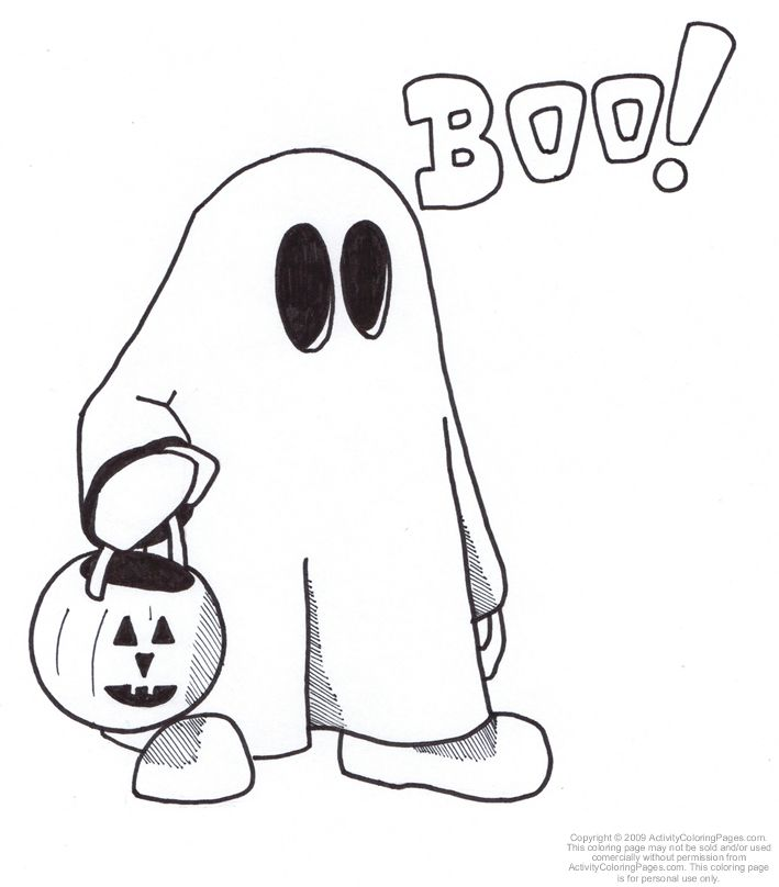 709x808 Ghost Coloring Sheet