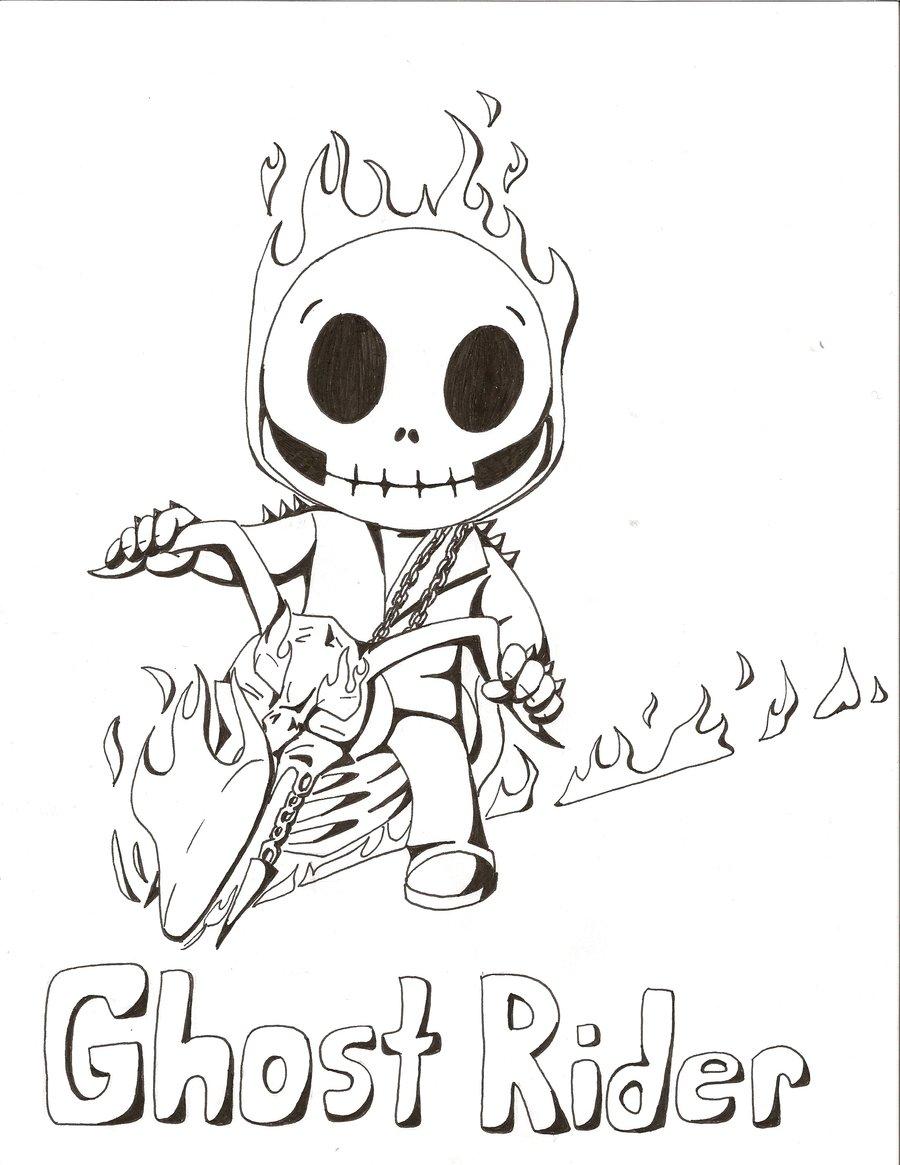 900x1165 Chibi Ghost Rider By Edwardscissorhands33