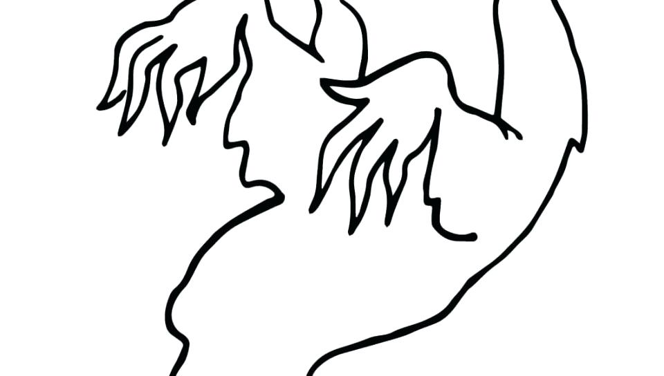 960x544 Ghost Coloring Page