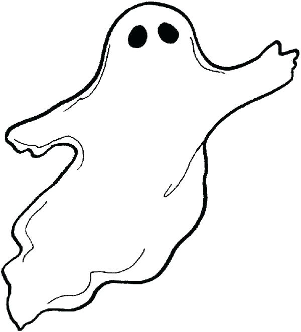 600x663 Cool Ghost Coloring Pages Free Download Page The Friendly Cute