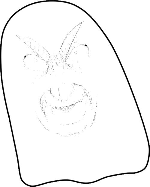 500x622 Cute Ghost