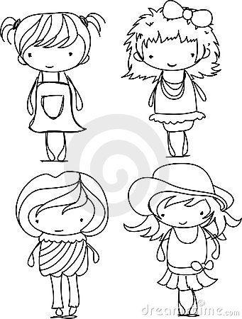 341x450 Fresh Cartoon Drawing Of A Girl Cartoon Cute Girl Vector Royalty