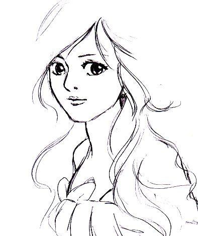 394x470 Ideal Cute Girl Cartoon Sketch Cute Girls With Curly Hair