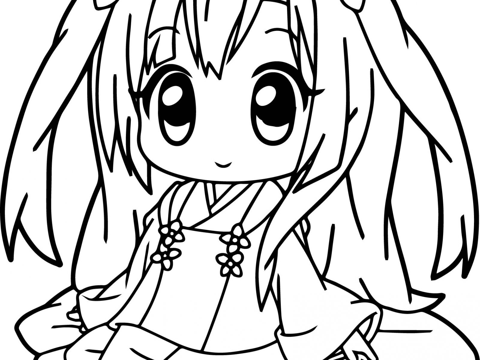 1600x1200 Simple By Anime Girl Coloring Pages On With Hd Free Printable