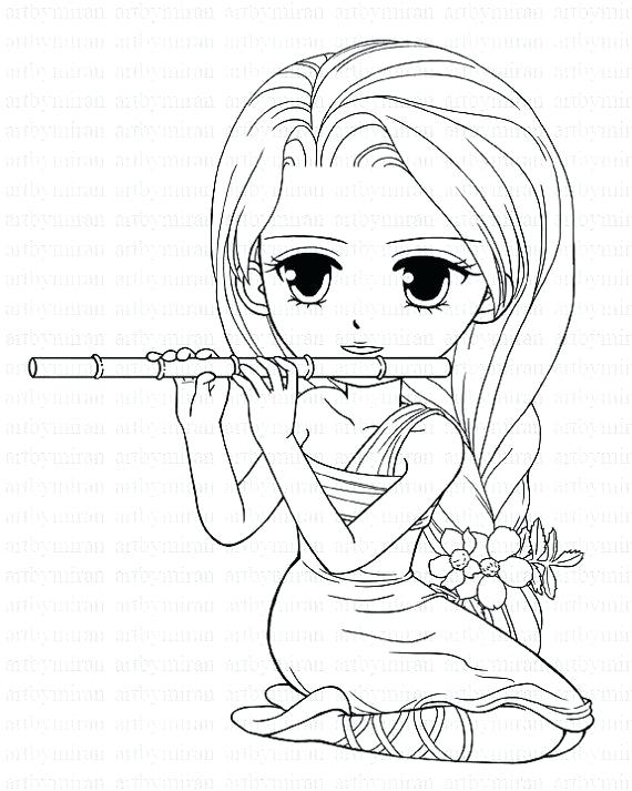 570x713 Cute Girl Coloring Pages Cartoons Cute Girl Coloring Pictures Cute
