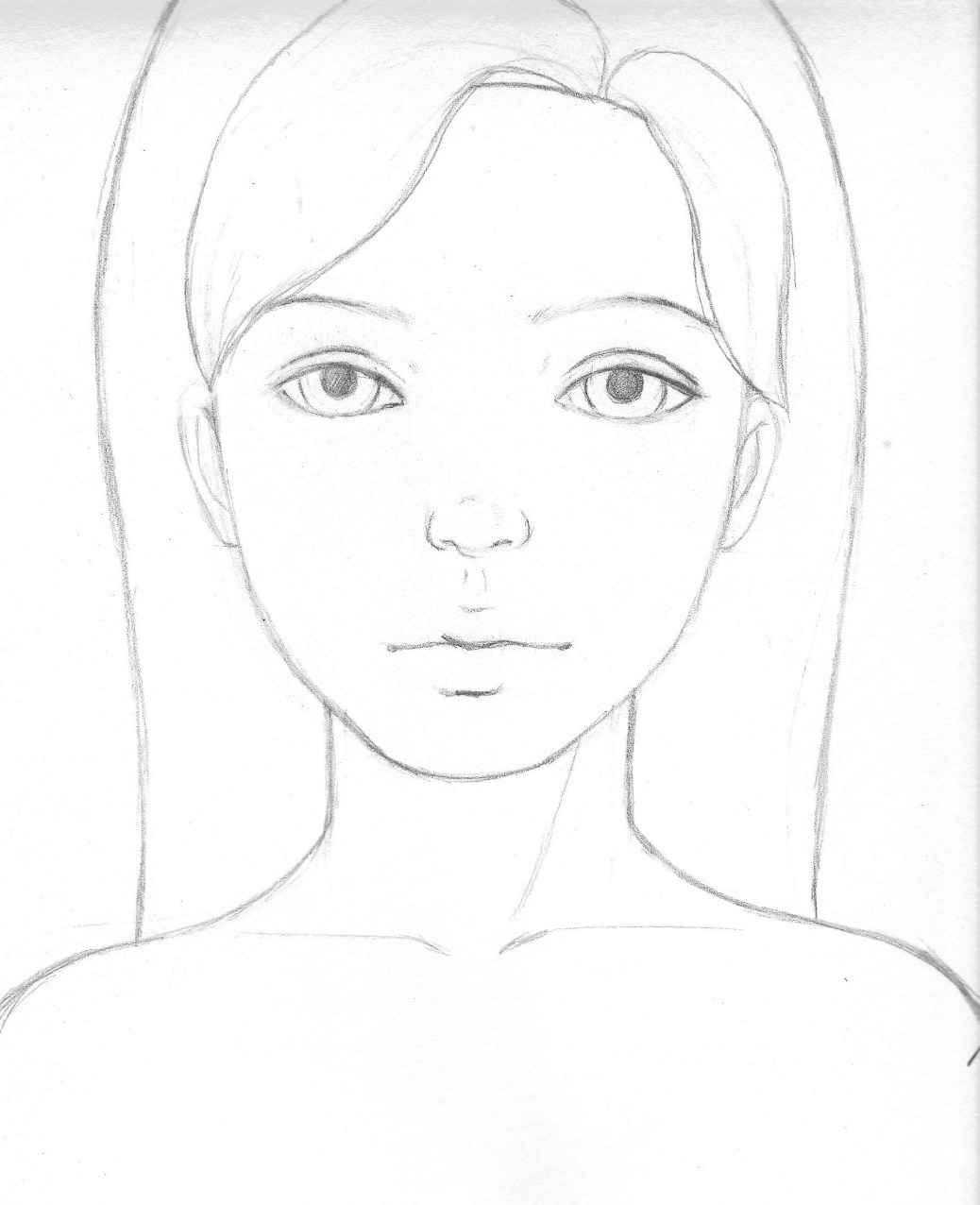 1038x1276 Girl Pictures To Draw Easy Allofpicts