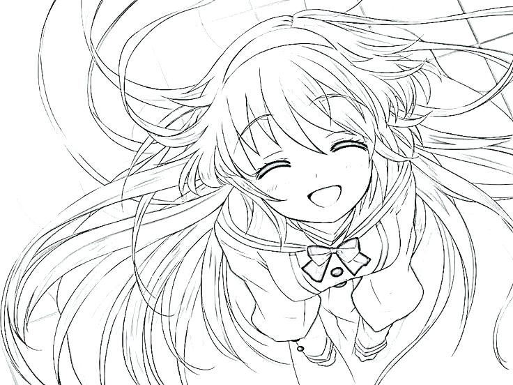736x552 Cute Girl Coloring Pages Medium Size Of Clamp Coloring Pages Cute
