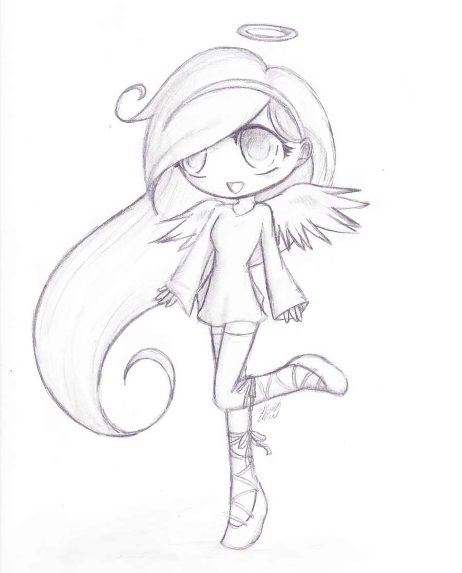 900x1115 Drawn Angel Cute