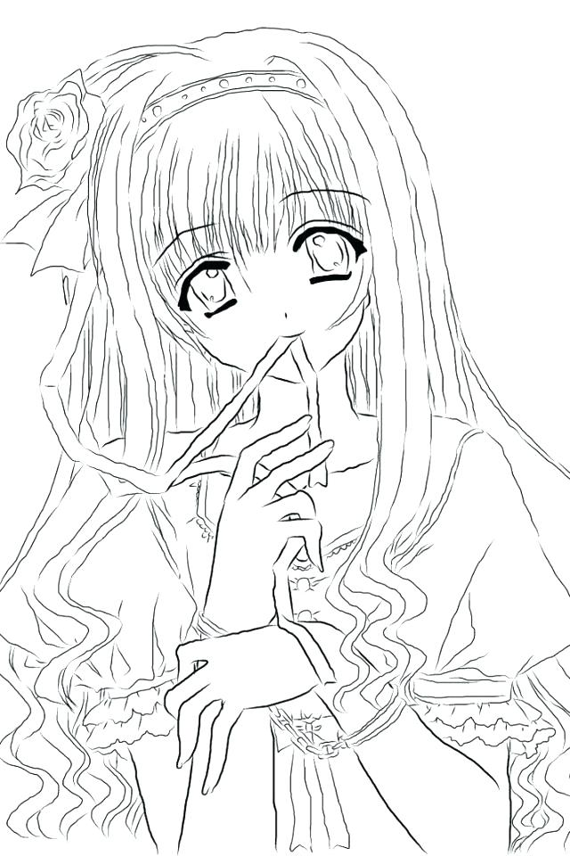 640x960 Chibi Anime Coloring Pages Cute Girl Sheets