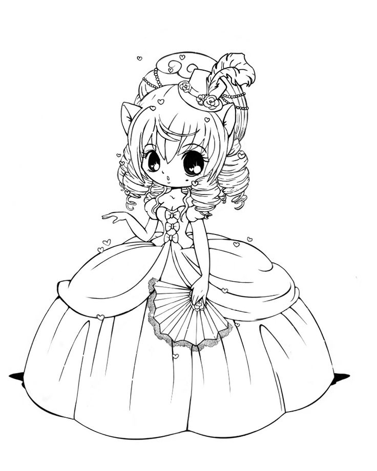 736x920 Cute Chibi Coloring Pages Printable For Snazzy Draw Photo
