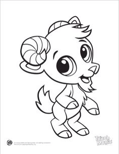 Cute Goat Drawing