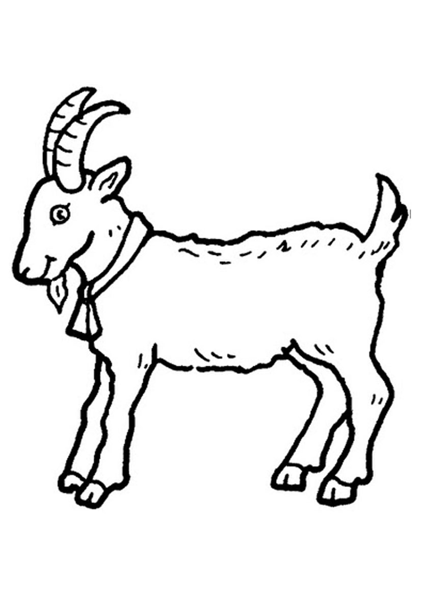 826x1169 Cute Goat Coloring Sheets For Kids Free Coloring Pages